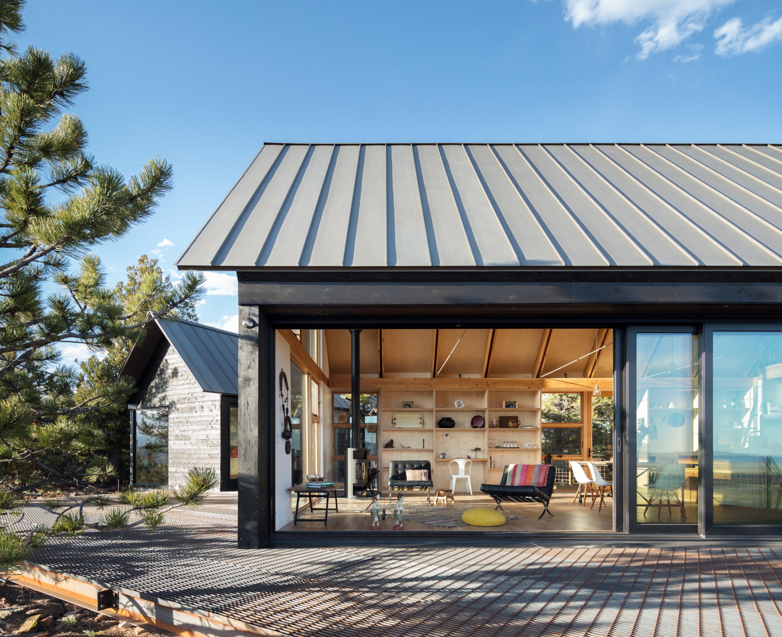 Exterior view of Big Cabin | Little Cabin by Renée del Gaudio Architecture.