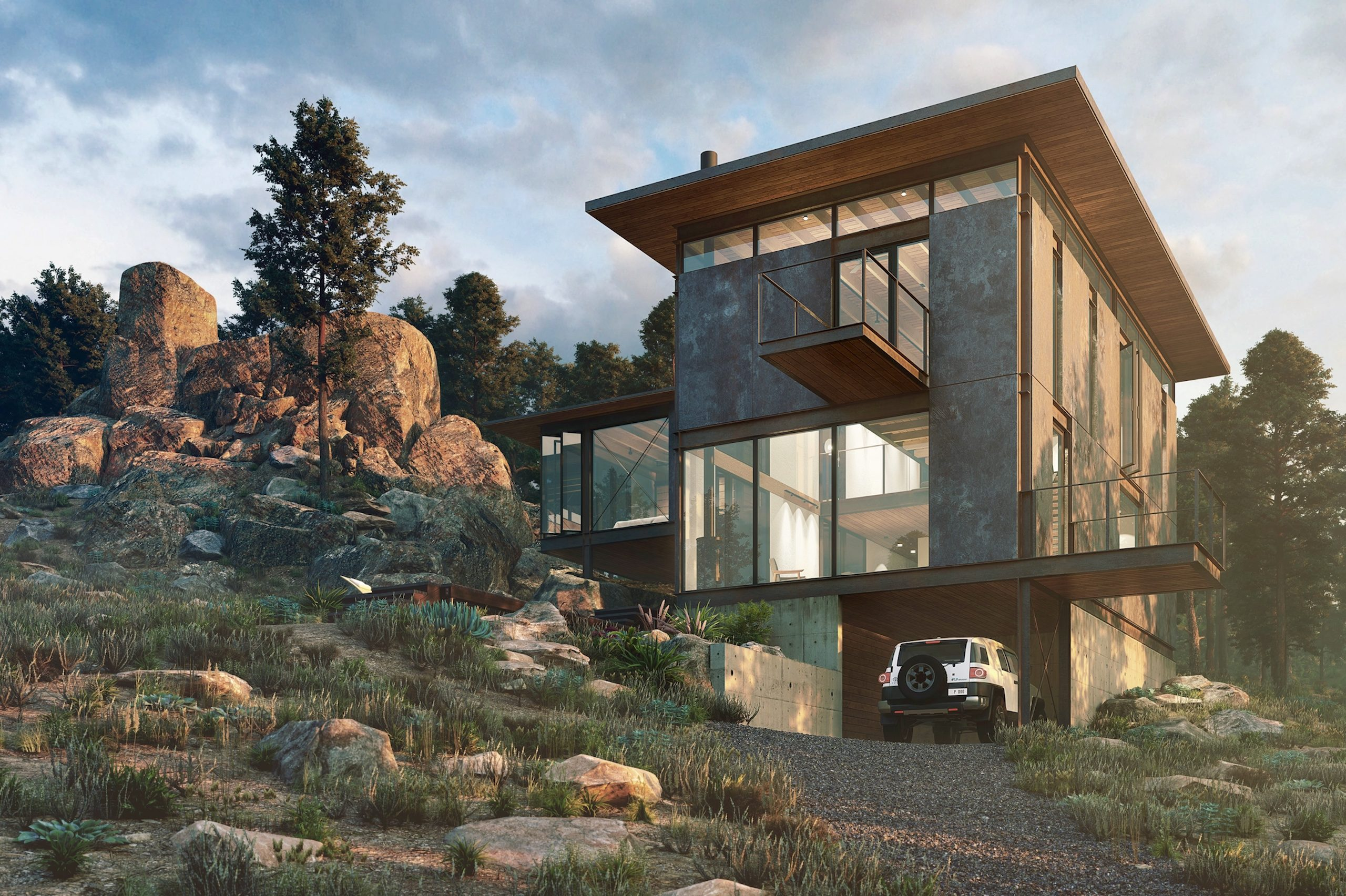 Rendering of The Lookout project by Renée del Gaudio Architecture.