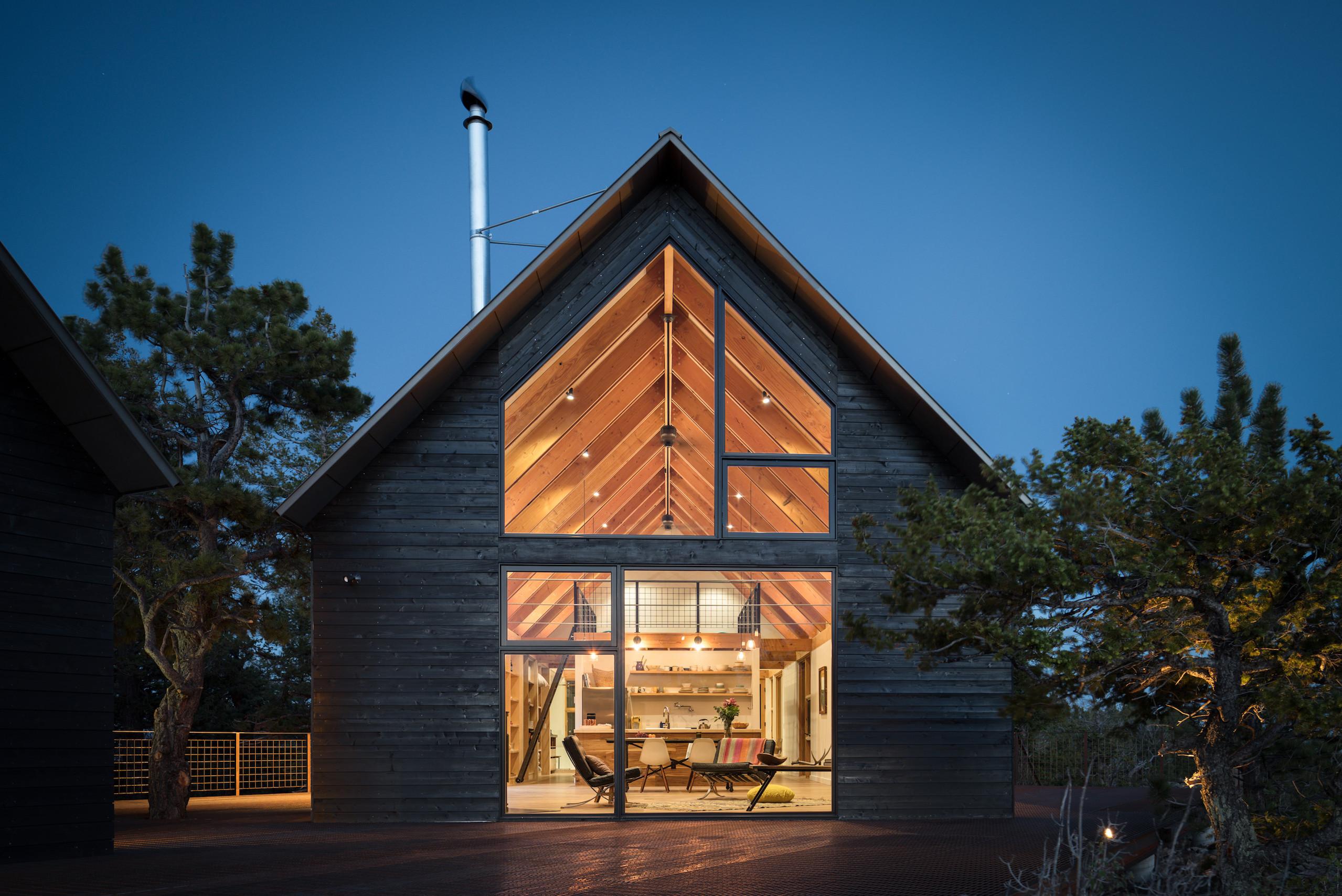 Twilight at Big Cabin | Little Cabin by Renée del Gaudio Architecture.