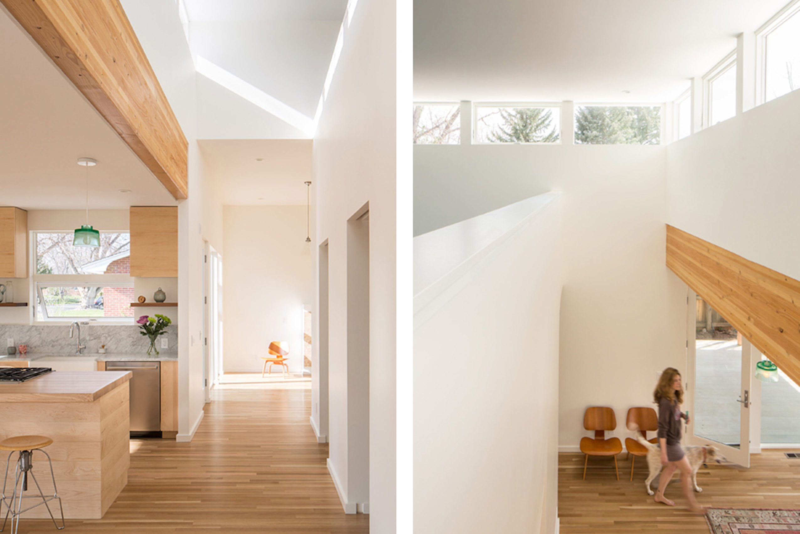 Interior view of Reduce Reuse Remodel by Renée del Gaudio Architecture