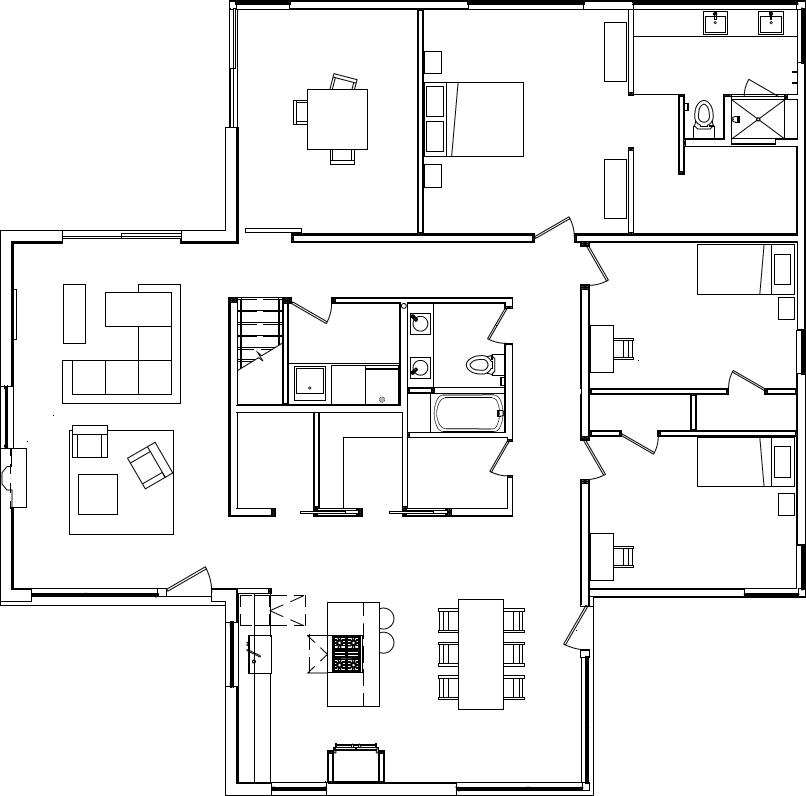 Floor plan of Reduce Reuse Remodel by Renée del Gaudio Architecture