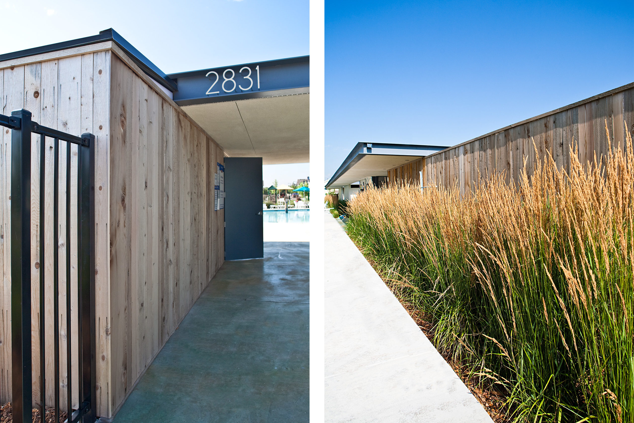 Entry detail of Poolhouse 3 by Semple Brown Design and Renée del Gaudio