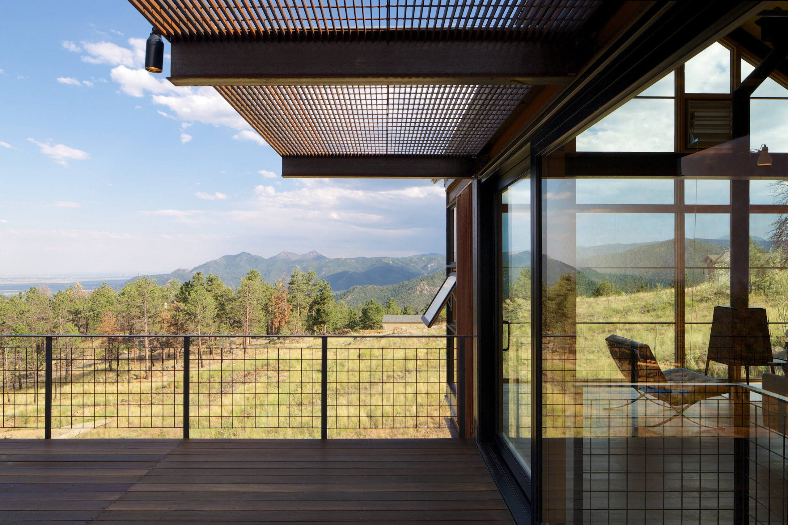 Roof deck at Sunshine Canyon House by Renée del Gaudio Architecture.