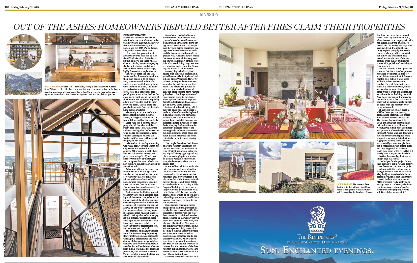 The Wall Street Journal | Press for Renée del Gaudio Architecture.