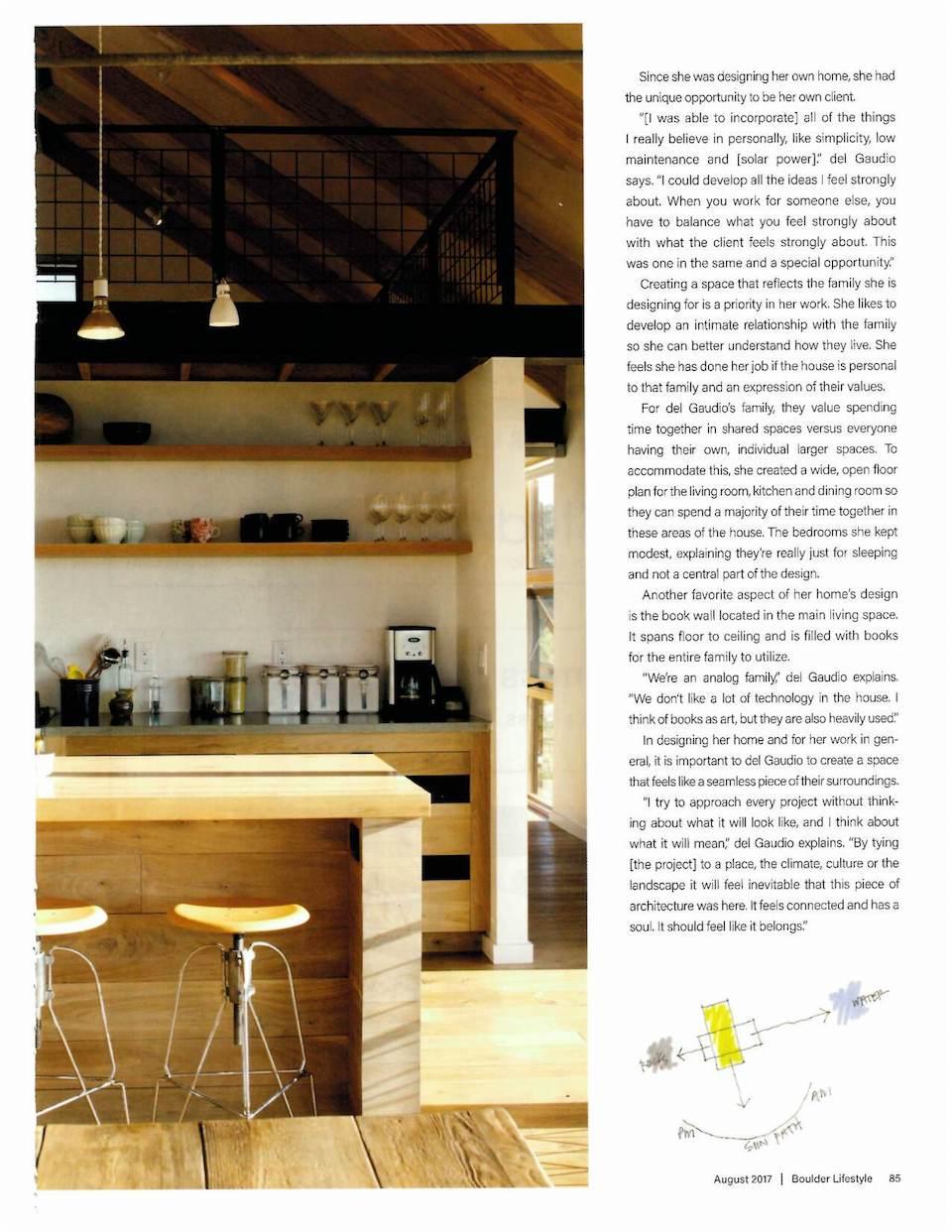 Boulder Lifestyles Magazine | Press for Renée del Gaudio Architecture.