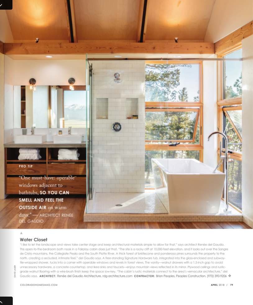 Colorado Homes & Lifestyles | Press for Renée del Gaudio Architecture.