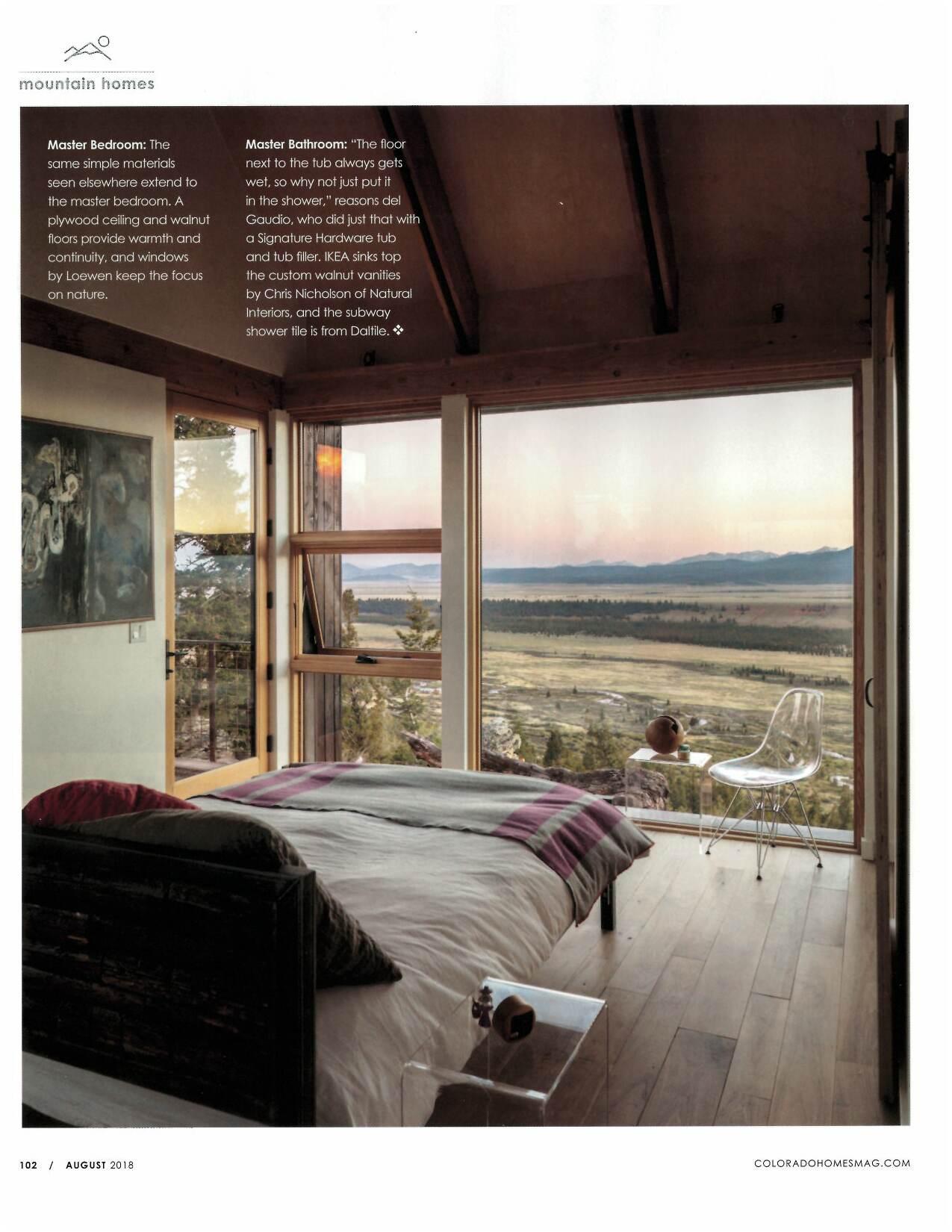 Colorado Homes & Lifestyles | Press for Renée del Gaudio Architecture.