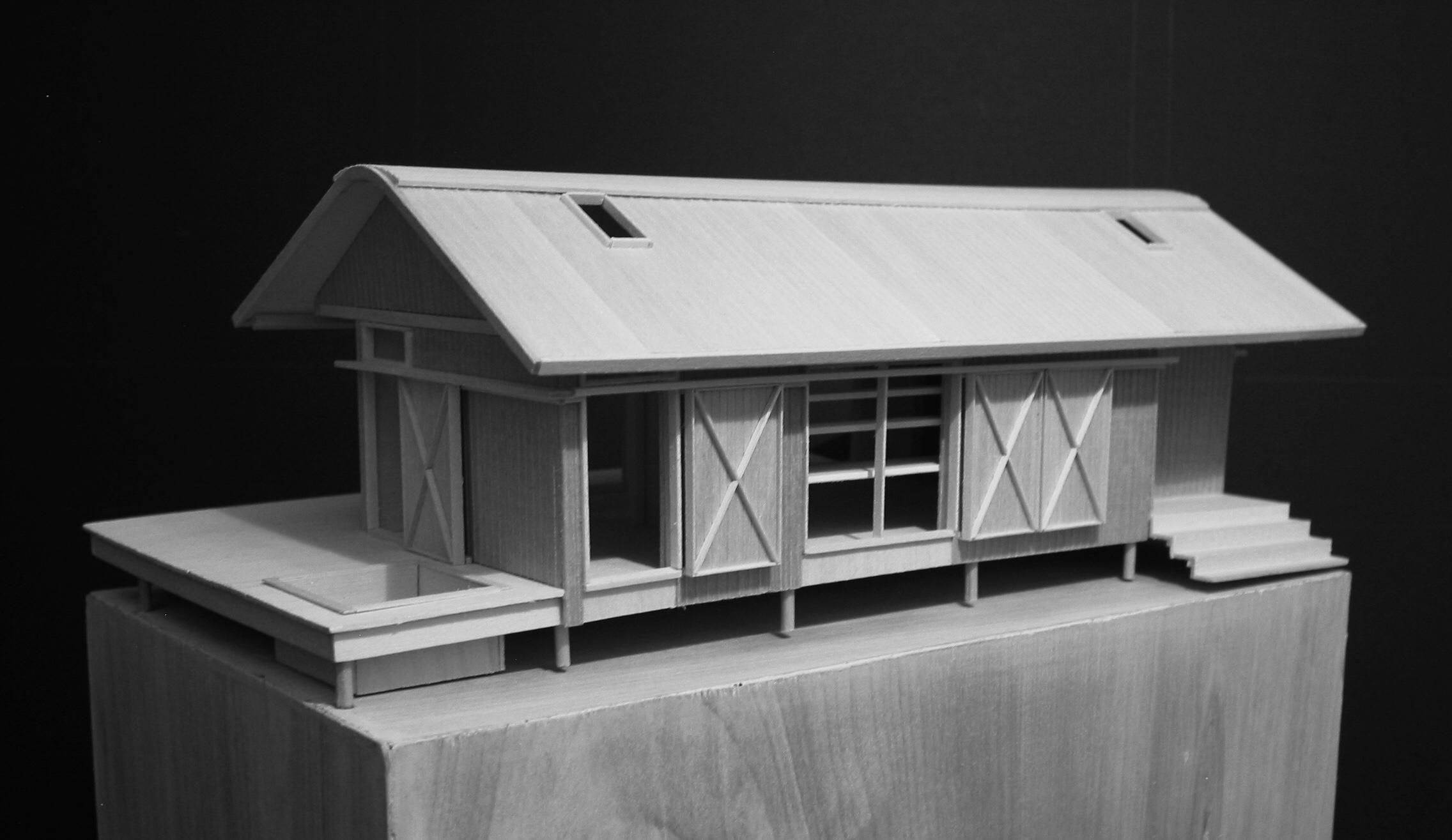Presentation model of Shut Down Cabin by Renée del Gaudio Architecture