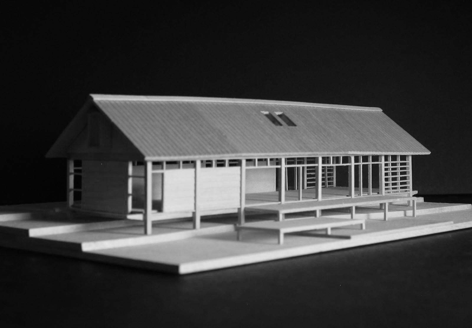 Presentation model of Navarro River House by Renée del Gaudio Architecture