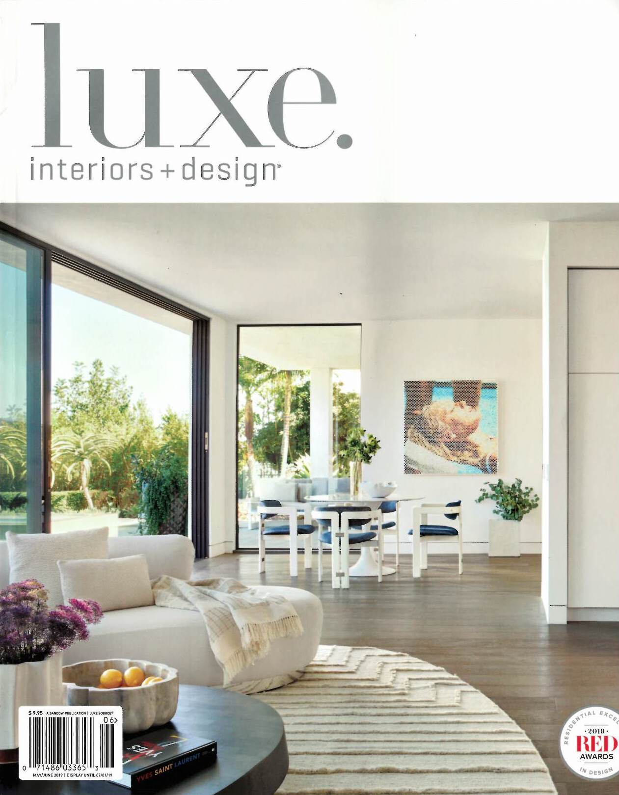Luxe magazine featuring Renée del Gaudio Architecture.