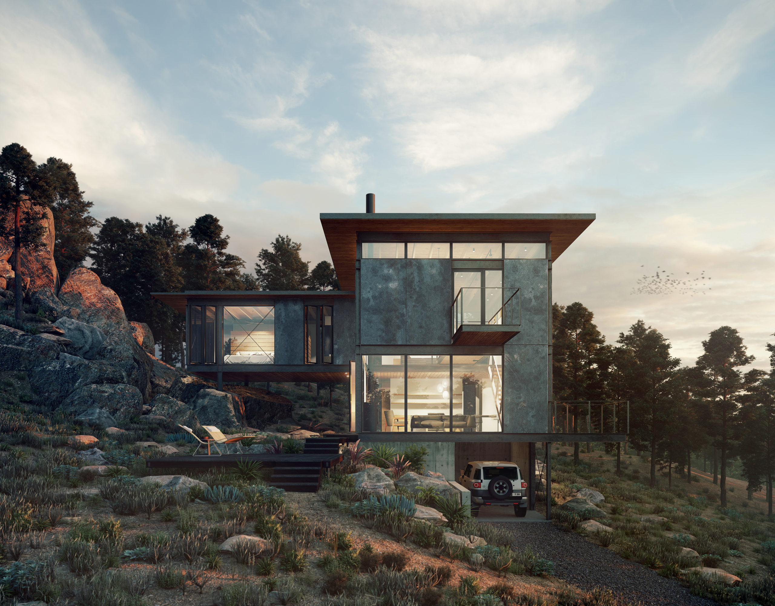 Rendering of The Lookout project by Renée del Gaudio Architecture